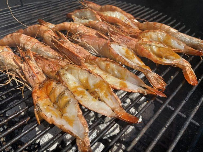 Lock down braai: Portuguese prawns