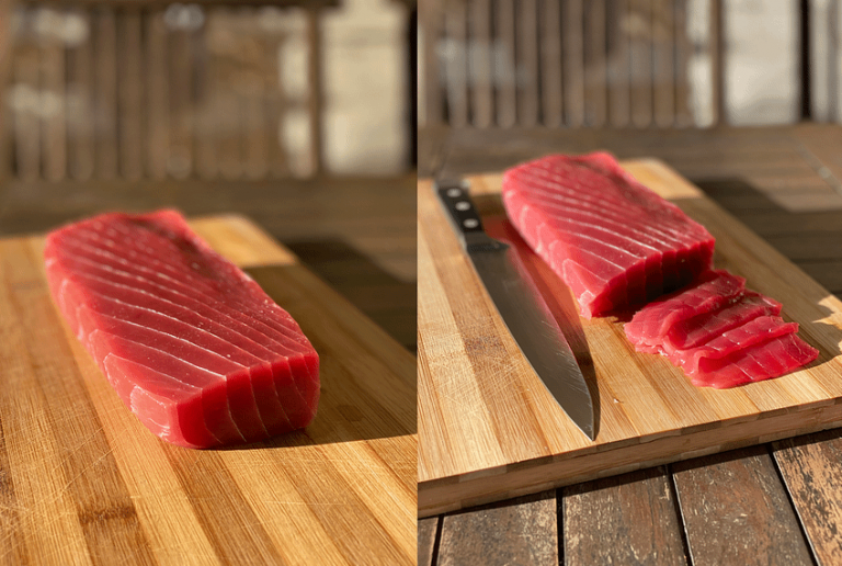Turn your Cape Fish yellowfin tuna saku block into perfect sashimi