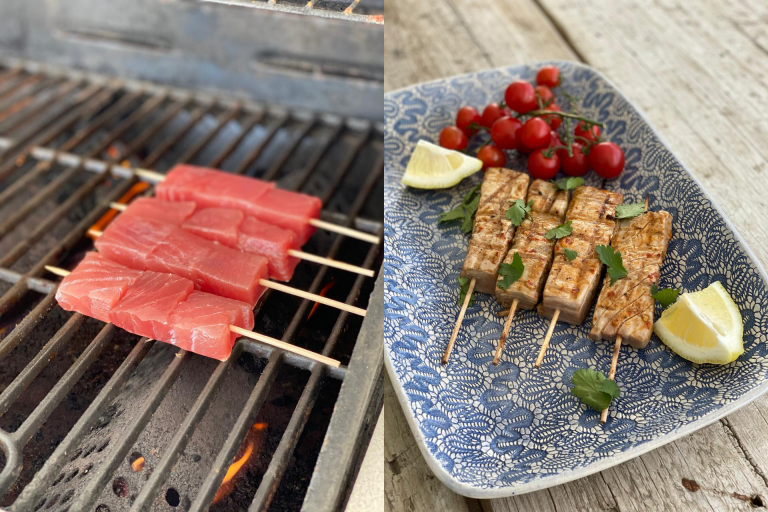 Our braai-ready tuna & swordfish kebabs